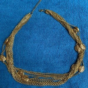 Necklace, gold with small beads